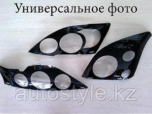 Защита фар Toyota Highlander 2001-2007 (очки в черн.кант) AirPlex