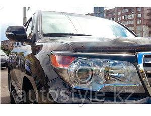 Защита фар Toyota Land Cruiser 200 2012-15 (очки, прозрачные) EGR
