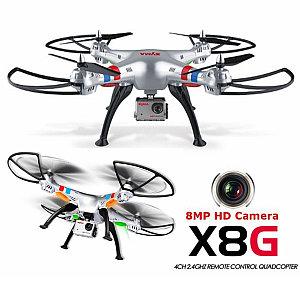 Квадрокоптер с видеокамерой HD и записью на карту  SYMA-X8G