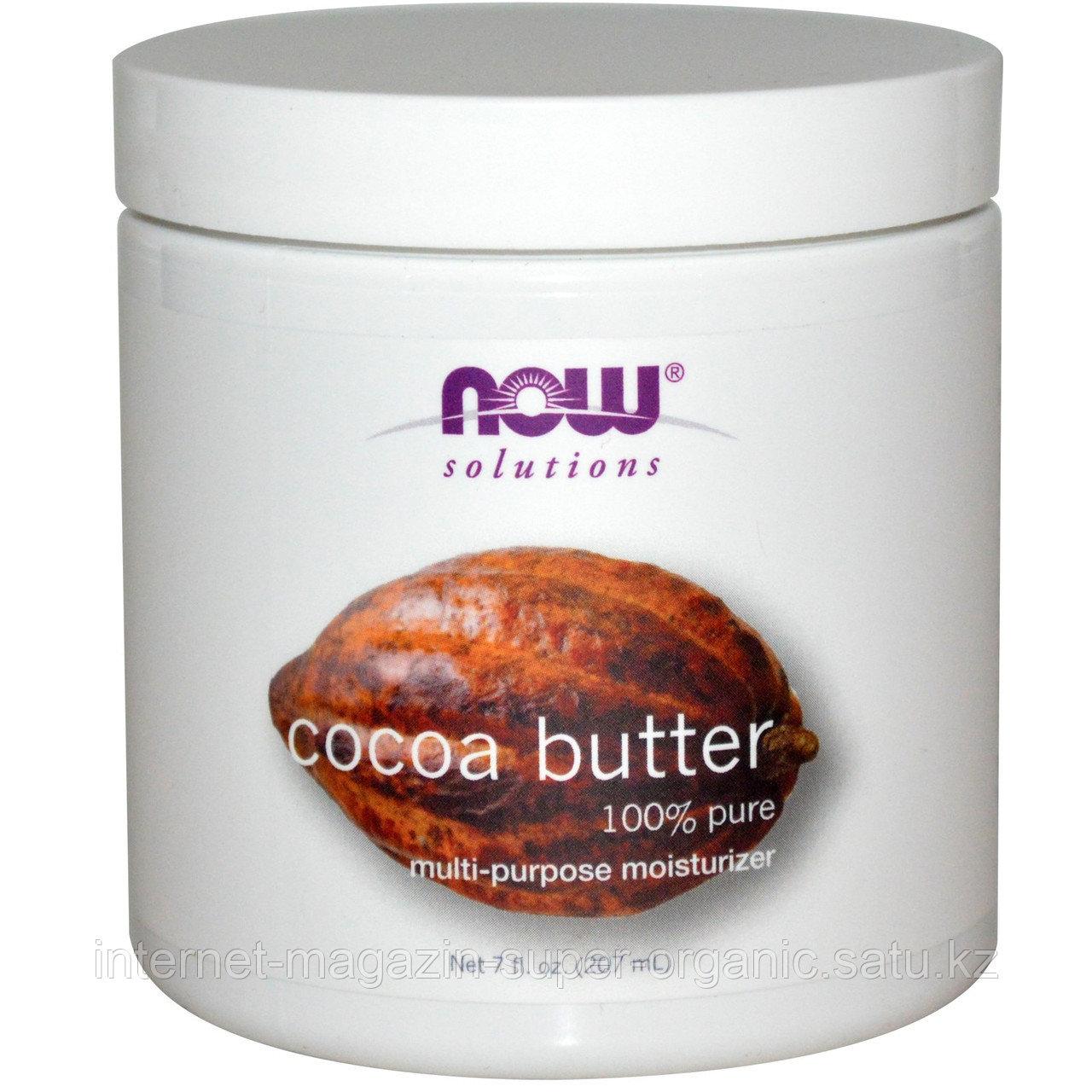 Масло какао (Solutions), 7 жидких унций (207 мл), Now Foods