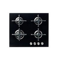 Поверхность встраиваемая газовая ЛИВСГНИСТА стекло черный ИКЕА, IKEA