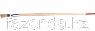 Кисть круглая тонкая , светлая натуральная щетина, деревянная ручка, №6 x 8мм