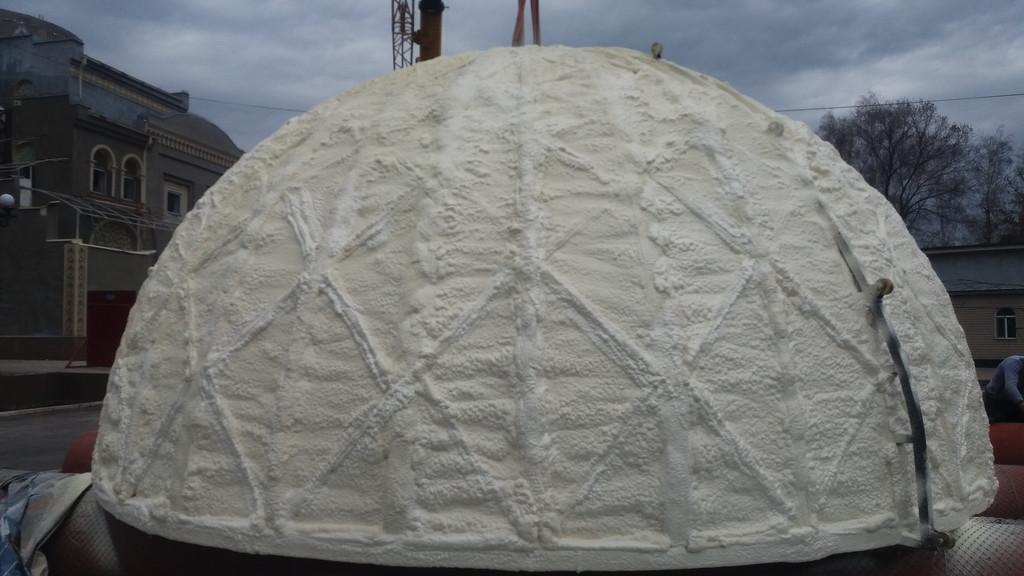Утепление купола мечети
