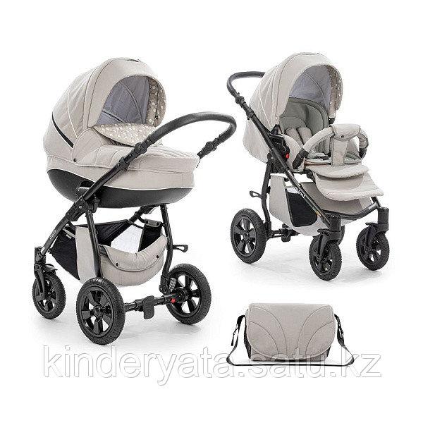 Детская коляска 3 в 1 TUTIS MIMI светло серый/сердечки