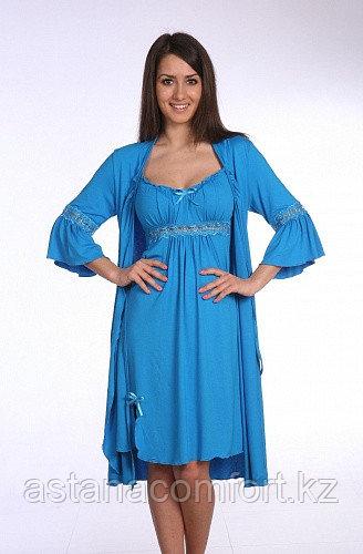 Женская ночная сорочка + халат