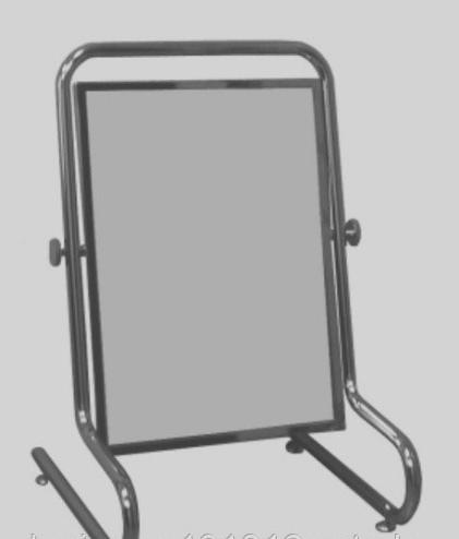 Каркас хромированный для напольного зеркала