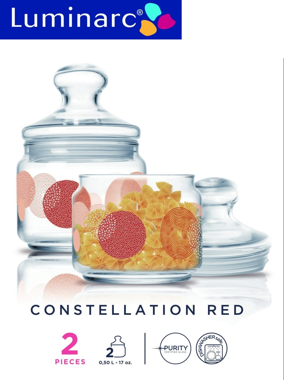 Набор банок Luminarc Constellation Red 0,5 л (2шт)