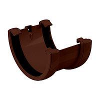 Соединитель желобов, диаметр 120 мм, коричневый, FineBer, фото 1
