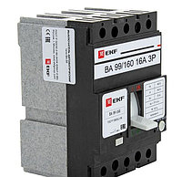 Автоматический выключатель ВА-99 160/16А,25,32,40,50,63,80А 3P 35кА EKF PROxima, фото 1