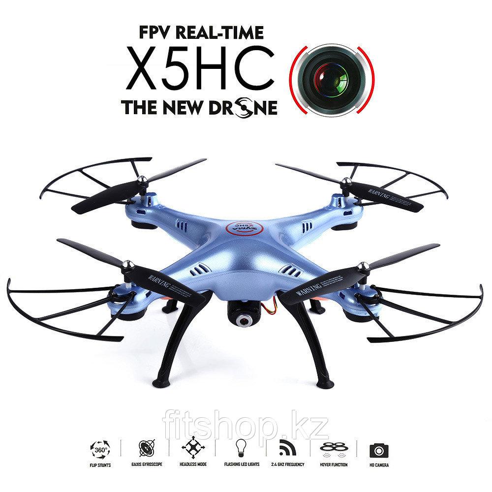 Квадрокоптер Syma X5HC с 2MP HD камера, с записью на карту памяти, 1:15