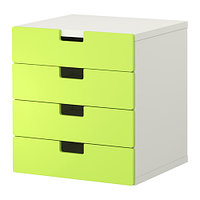 Комод для хранения СТУВА белый/зеленый ИКЕА, IKEA