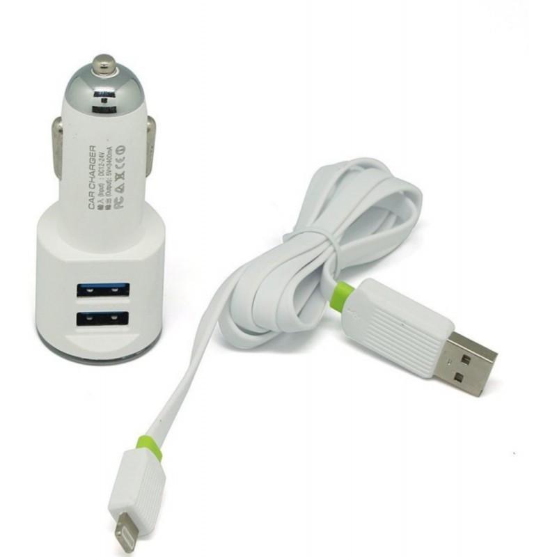Автомобильное зарядное устройство LDNIO DL-C29 Lightning