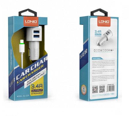 Автомобильное зарядное устройство LDNIO DL-C29 Lightning, фото 2
