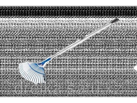 Грабли веерные ЗУБР 39587, ЭКСПЕРТ, 22 плоских зубца, алюминиевый черенок, 440 х 250 х 1630 мм , фото 2