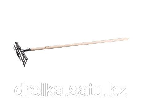 Грабли витые ЗУБР 4-39581-10, садовые с черенком, 10 зубцов , фото 2
