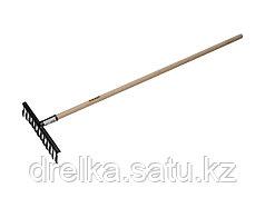Грабли витые ЗУБР 4-39581-12, садовые с черенком, 12 зубцов