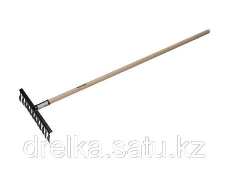 Грабли витые ЗУБР 4-39581-12, садовые с черенком, 12 зубцов , фото 2