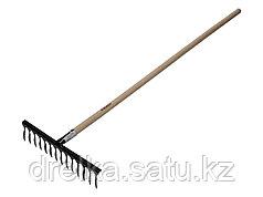 Грабли витые ЗУБР 4-39581-14, садовые, с черенком, 14 зубцов