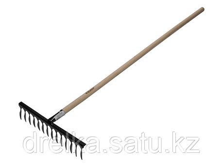 Грабли витые ЗУБР 4-39581-14, садовые, с черенком, 14 зубцов , фото 2