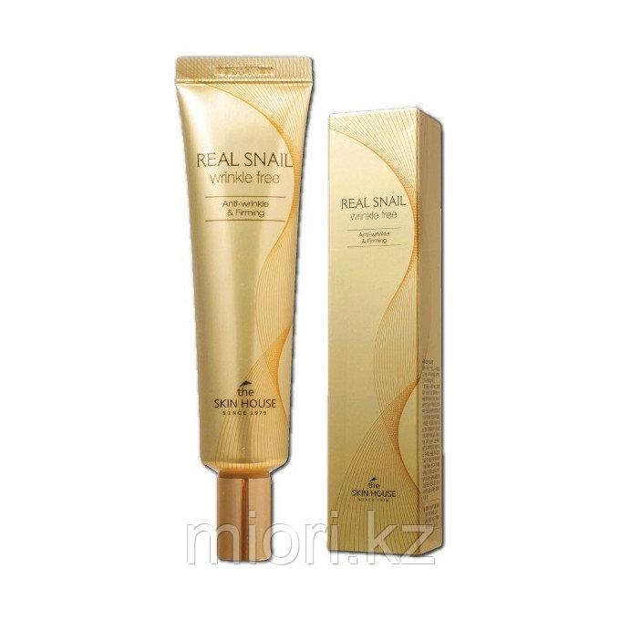 Крем с экстрактом улитки (точечный для глаз, носогубной области)The Skin House Real Snail Eye Cream,30мл