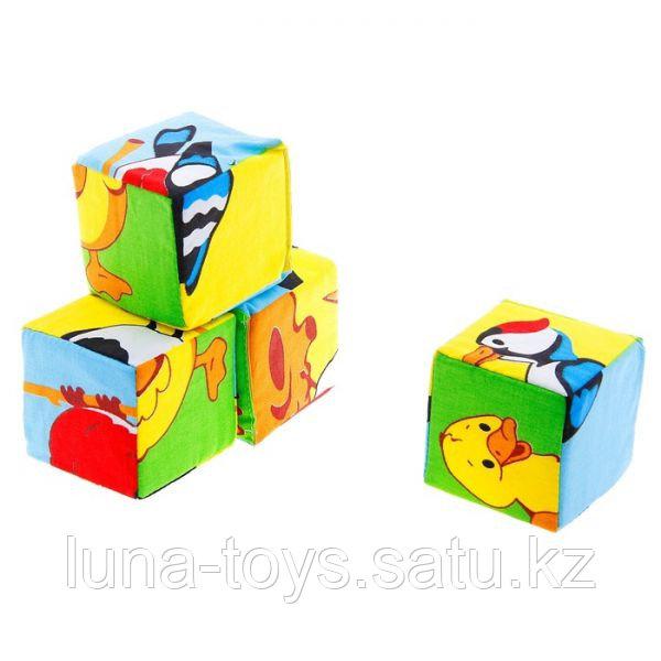 """Набор мягких кубиков """"Собери картинку. Птицы"""" 239"""
