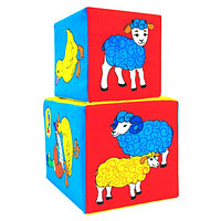 """Набор развивающих мягких кубиков """"Чей детеныш?"""" 169, фото 1"""