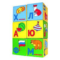 """Набор развивающих мягких кубиков """"Азбука в картинках"""", 6 штук 207, фото 1"""