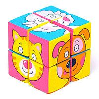 """Набор мягких кубиков """"Собери картинку.Зверята"""", фото 1"""