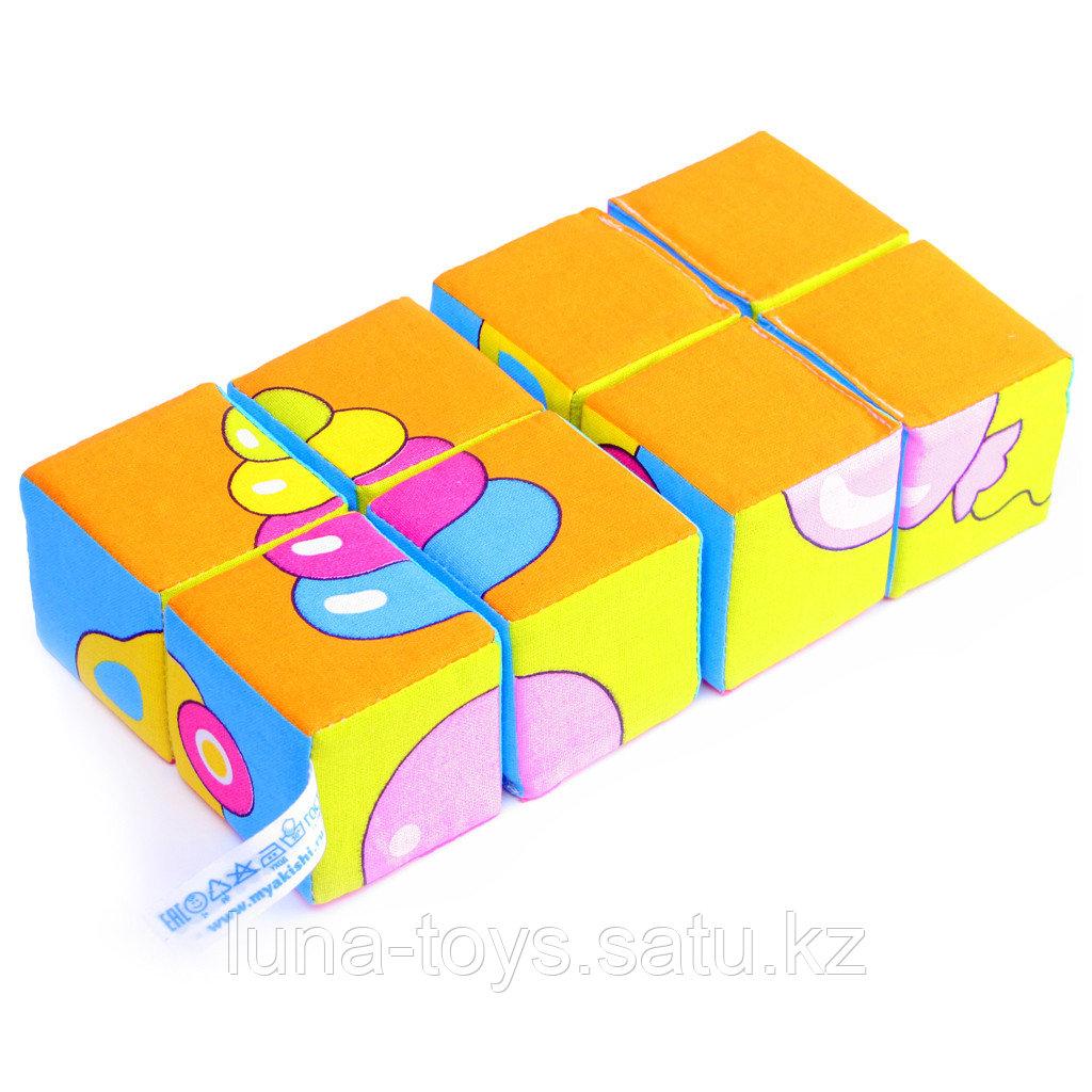 """Набор мягких кубиков """"Собери картинку. Предметы"""""""