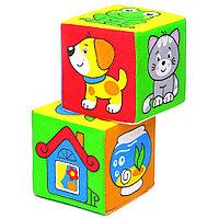 Развивающая игрушка-кубики «Чей домик?» 111