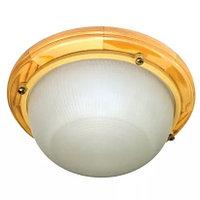 Светильник термо влаго стойкий +125 для бани и сауны Терма-3. (рамка из липы)., фото 1