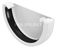 Заглушка желоба универсальная, белый, Holzplast, фото 1