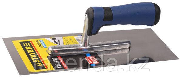 Гладилка  нержавеющая с двухкомпонентной ручкой, зубчатая, 4х4мм
