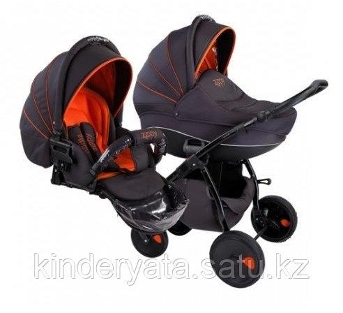 Коляска для новорожденных Tutis Zippy New 2 в 1, серый/оранжевый