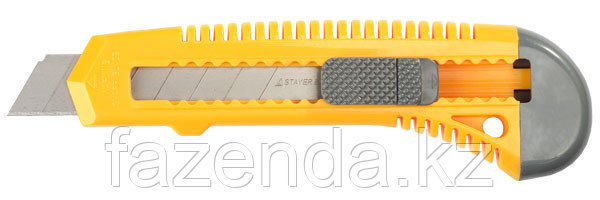 Нож STAYER MASTER с выдвижным сегментированным лезвием, 18мм