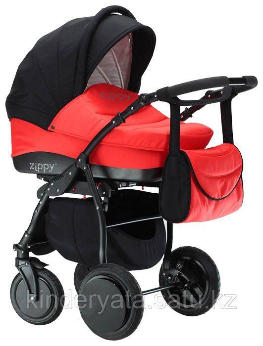Коляска для новорожденных Tutis Zippy New 2 в 1, серый/красный