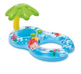 """Intex Круг-ходунки для плавания """"Пальма"""", 117 х 75 см, с сиденьем, навесом, малым кругом"""