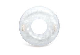 Intex Круг надувной с ручками GLOSSY CRYSTAL TUBE, от 9 лет, 114см