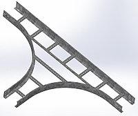 Тройник для лестничного лотка НЛО 600х100х3000 (радиус поворота 600 мм)