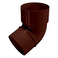 Колено трубы водостока 67°, коричневый, Holzplast, фото 1
