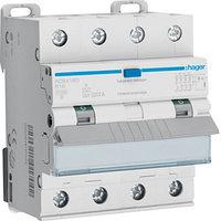 Дифференциальные автоматические выключатели 4-полюса от Hager