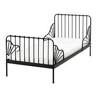 Кровать детская раздв МИННЕН +реечн днище черный ИКЕА, IKEA, фото 1