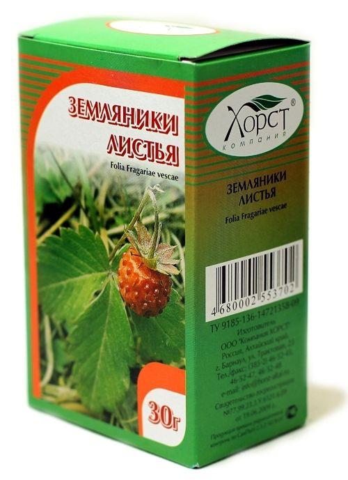 Земляника, листья, 30 гр