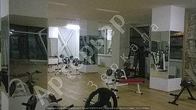 """Установка, монтаж зеркал в тренажерный зал, г.Алматы, апрель 2017. Компания """"Артерьер"""" 2"""
