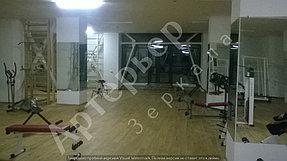 """Установка, монтаж зеркал в тренажерный зал, г.Алматы, апрель 2017. Компания """"Артерьер"""" 5"""