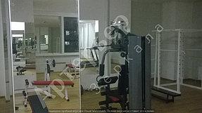 """Установка, монтаж зеркал в тренажерный зал, г.Алматы, апрель 2017. Компания """"Артерьер"""" 6"""