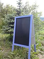 Доска графитовая, черная матовая, не магнитная, меловая, фото 2