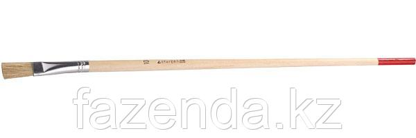 Кисть круглая тонкая, светлая натуральная щетина, деревянная ручка, №2 x 5мм
