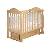 """Кровать детская """"Мишутка 3 """" (Базовая + маятник с ящиком) Можгинский лесокомбинат(белый,сл.кость), фото 2"""