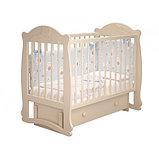 """Кровать детская """"Мишутка 3 """" (Базовая + маятник с ящиком) Можгинский лесокомбинат(белый,сл.кость), фото 3"""